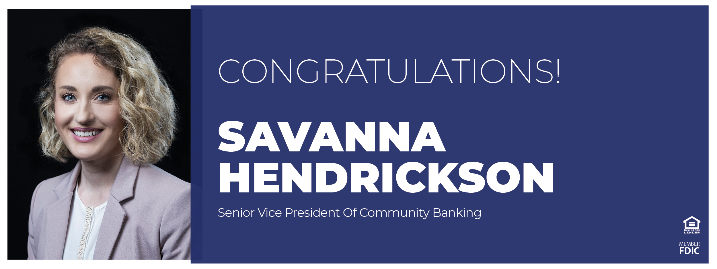 Savanna Hendrickson headshot as new Senior Vice Preside